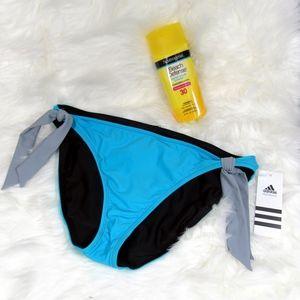 Adidas Reversible Blue Black Bikini Bottom Size 10